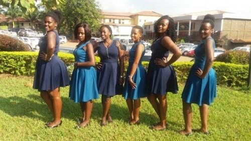 Ladies of Derfynation Ushering Team posing for a photo