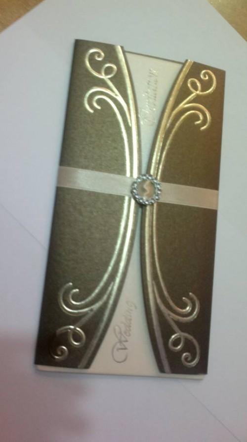 A wedding invitation card by Event Styles Uganda Ltd