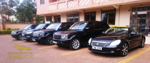 A fleet of black bridal cars from Adonai Group