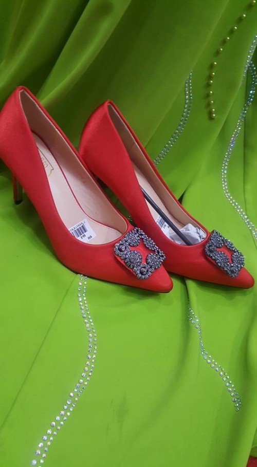 Red Bridal Shoes from Mera Collections Bridal & Boutique