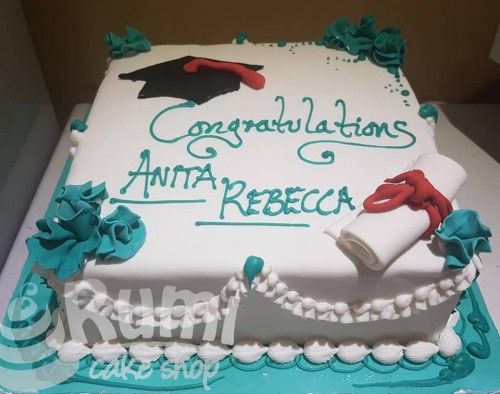 Anita Rebecca's graduation cake by Rumi Cake Shop