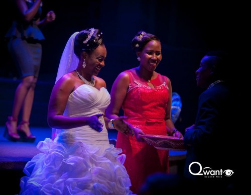 Lighton and her maid of honor at Watoto church Kampala, shots by Qwant Eye