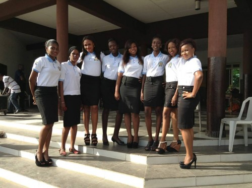 The entire team of Trinity Ushers in uniform