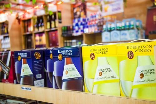 Boxed Robertson Wines distributed by Karuka Agencies