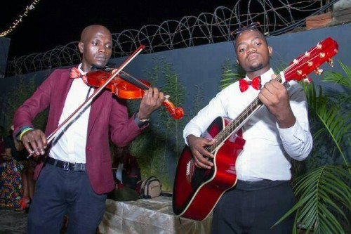 Tayebwa David and his teammate Allan Watson Waswa doing what they do best