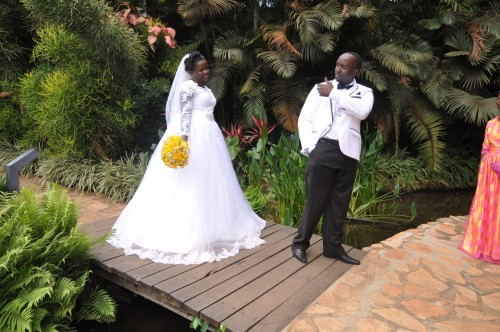 Aurthur and Ritah during their photo shoot in Munyonyo