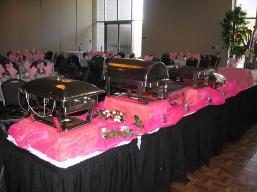 Chafing dishes from FZS Restaurant