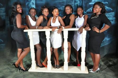 Derfynation Ushering Team in black and white dresses