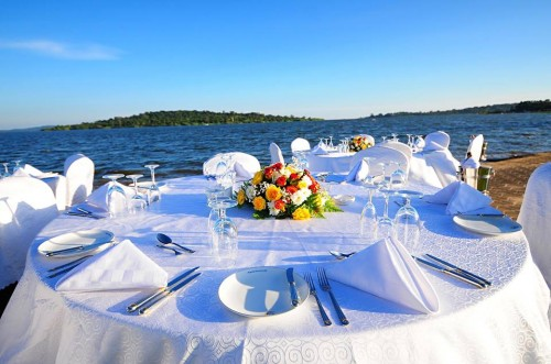 Lakeside Reception Setup at Speke Resort Munyonyo