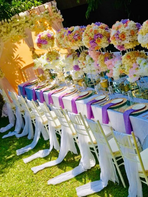 Lilac, Pitch & Gold themed decor by Essie Events