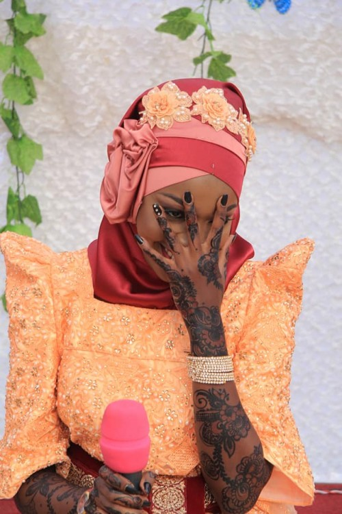 A beautiful Hadijah as she introduced Meddie, photo by Frame Media
