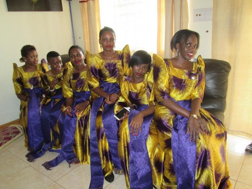Ladies from Dotaz Ushering Services dressed in gomesis at customary wedding