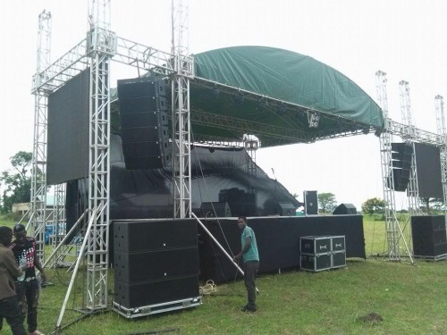 Big public address systems from Extreme Music and Events