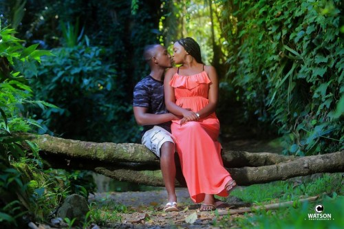Francis and Angella at their pre-wedding photo shoot