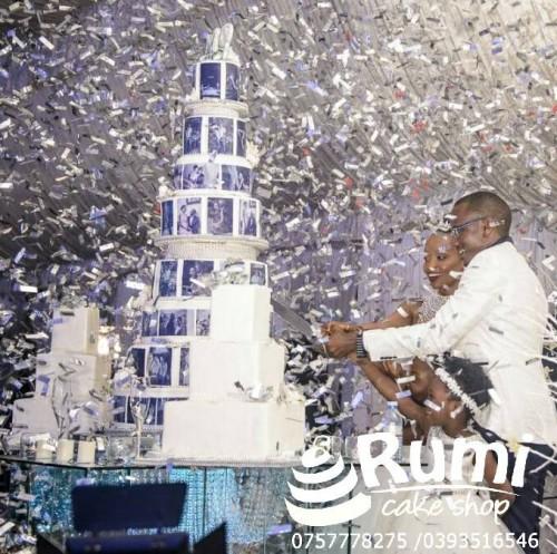 Mark & Persis' wedding cake by Rumi Cake Shop
