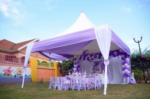 Blue and white inspired party decorations by Lega Events