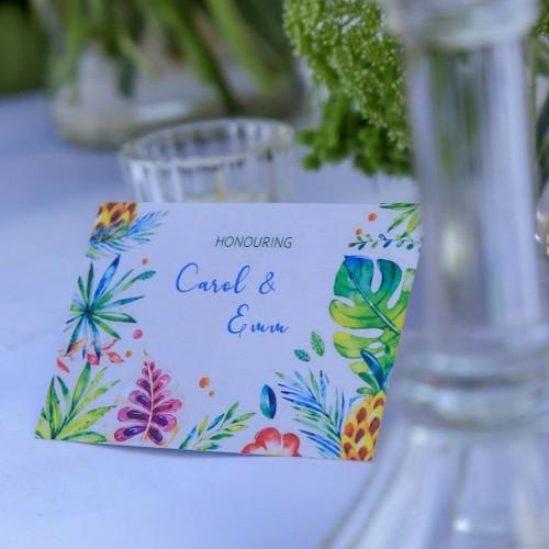 Honouring Carol & Emm at Kaazi Beach Resort, Decor by Eventique