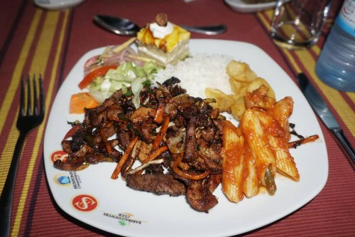 A sumptuous meal at Kabira Country Club