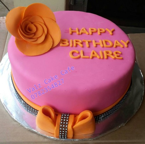 Claire's birthday cake from Valz Cake Cafe