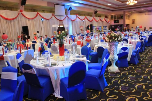 Wedding venue setup at Hotel Africana