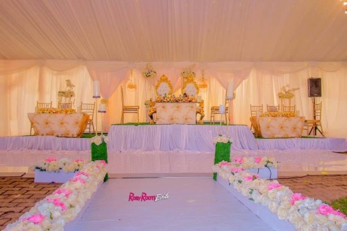 Simon and Brillian's wedding decor by Rossy Roots Events