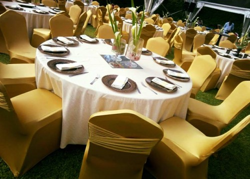 Gold themed Decor for a wedding Reception by Viable Options