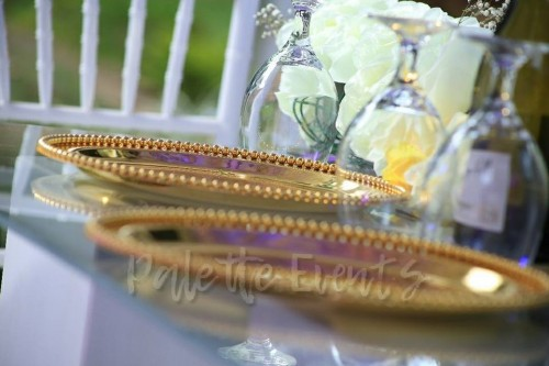 Gerald Weds Gloria Navy blue and Gold theme