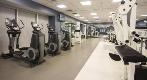 Gym facilities at Hotel International in Muyenga