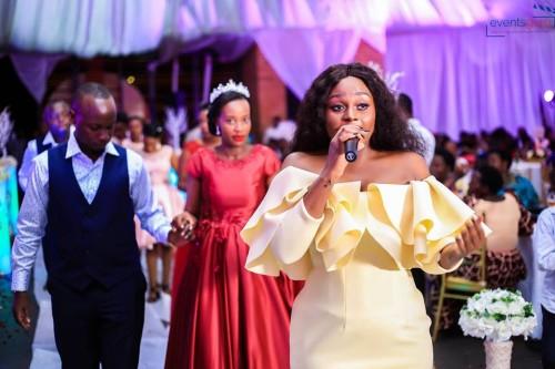 Rema Namakula performing at Mark & Rhita's wedding