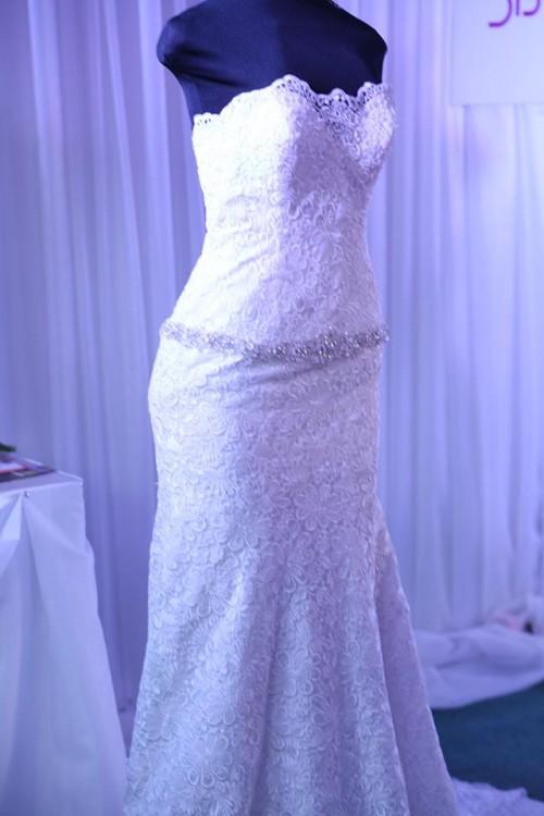 A sheath wedding dress from Elegant Bridals