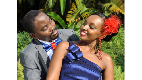 a grooms man & a bridesmaid dazzle in a wedding photo shoot by Dream Occasions Ug
