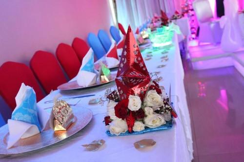 Wedding decorations at Jevine Hotel