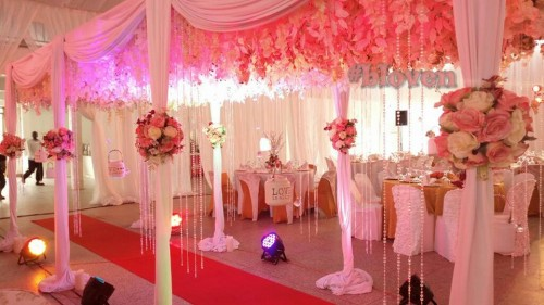 Beautiful walkway Decor By Bloven Events