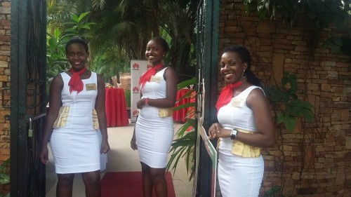 Usher's Palace members at a Huawei event in Kampala