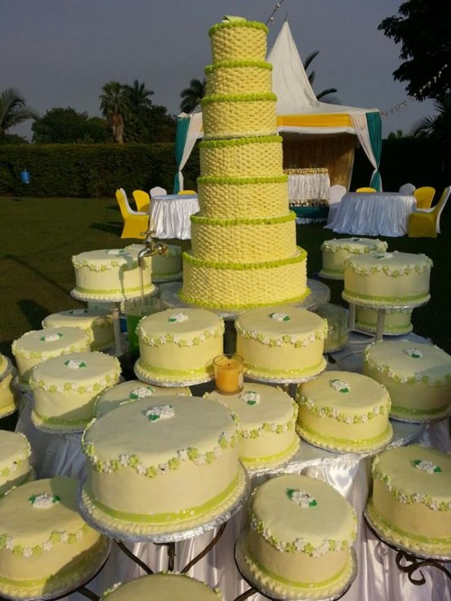 Wedding cake by Shibz Events Ltd