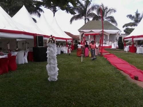 Wedding setup at Paya Gardens Nakulabye