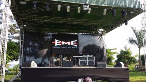An event stage setup by Extreme Music and Events
