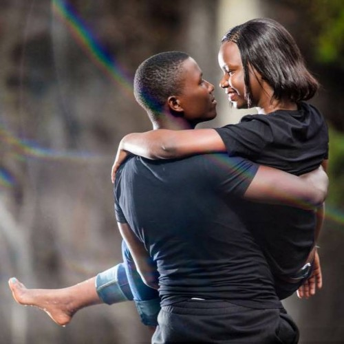 Hellen and Moses at the pre-wedding photo shoot with Frame Media at the River Ssezibwa falls