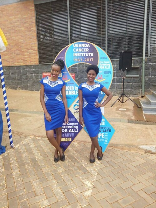 Ushers from Dotaz Ushering Services at the Uganda Cancer Institute