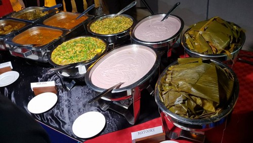 Restaurant buffet at Aangan Indian Restaurant
