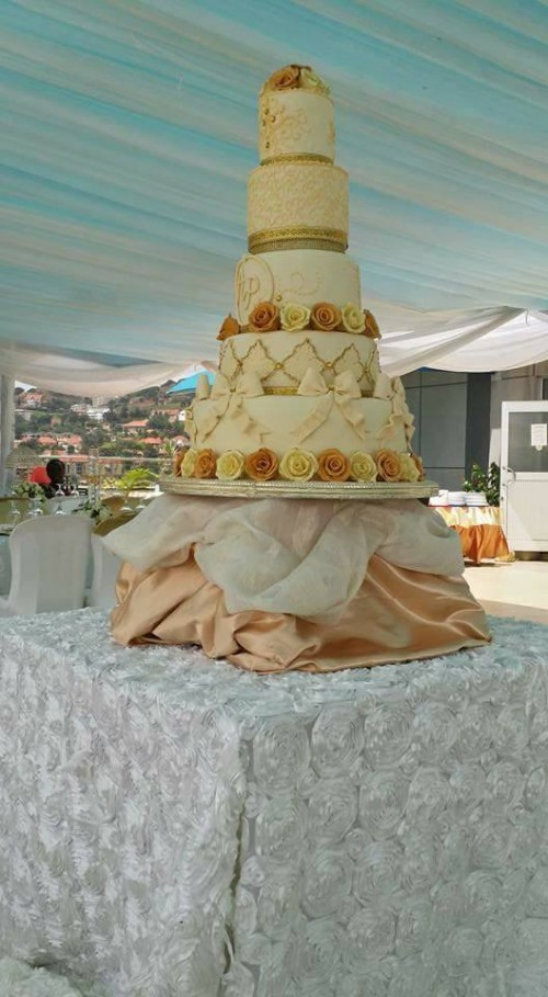 Persis & Anthony's wedding cake by Bake4Me, event planned by PTW & Events