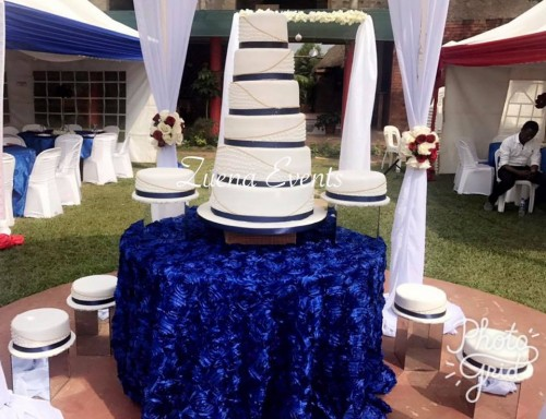 Royal Blue Cake By Zuena Cakes
