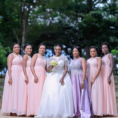 Erica and her maids at Namugongo Catholic Shrine, MultiWays Photography