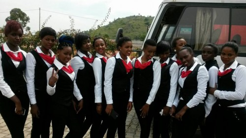 A team of beautiful ladies from Dotaz Ushering Services  clad in black and white outfits