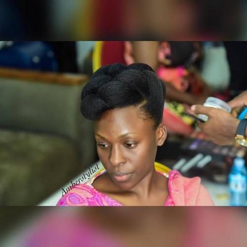 Natural hair goals, hairdo by Am her stylist