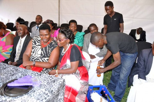 Moments from Patience Kobusingye & Katamba's customary wedding as Semau Drinks serve guests