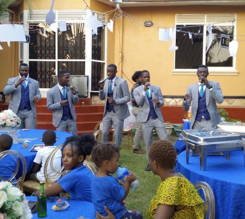The Canaan Gents team performing at home party