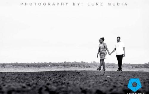 A prewedding photo shoot on the beach by Lenz Media