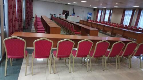 A conference hall at Ivys Hotel Kampala