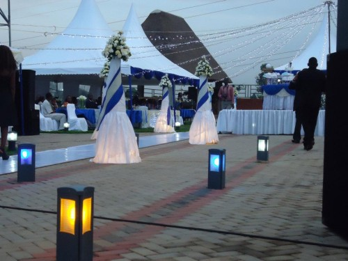 Blue & White  decorations at Mawanda Royal Gardens
